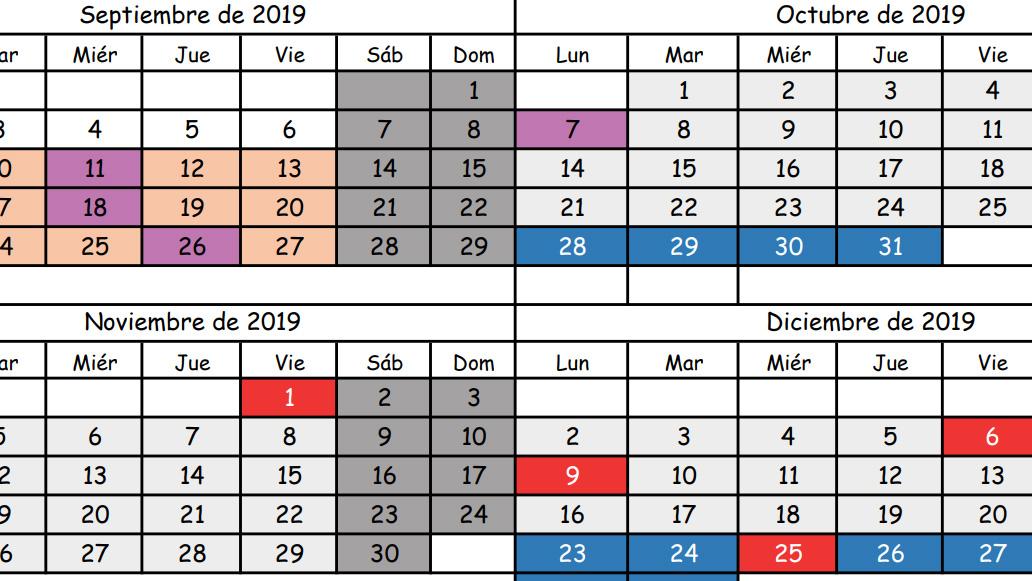 Calendario Escolar 2020 Cantabria.Calendario Escolar Para El Curso 2019 2020 Colegio Bilingue Apostolado